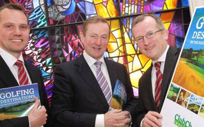 An Taoiseach Enda Kenny congratulates IGTOA Business Partner Club Choice Ireland on their contribution to Irish golf!